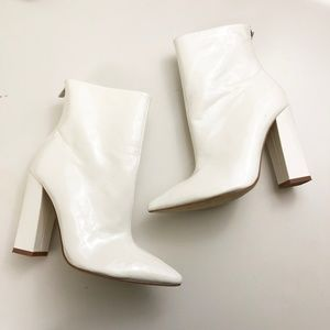 Raye the Label Revolve Clothing Riley White Bootie